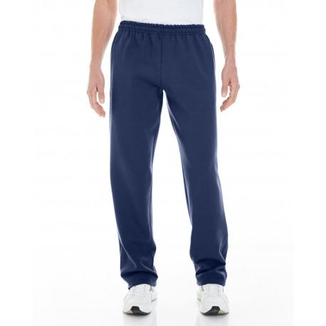 G183 Gildan G183 Adult Heavy Blend Adult 8 oz. Open-Bottom Sweatpants with Pockets NAVY