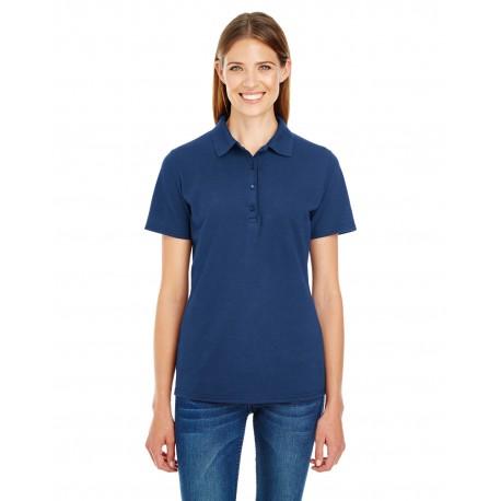 035P Hanes 035P Ladies' 6.5 oz. X-Temp Pique Short-Sleeve Polo with Fresh IQ NAVY