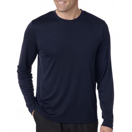 482L Hanes 482L Adult Cool DRI with FreshIQ Long-Sleeve Performance T-Shirt NAVY