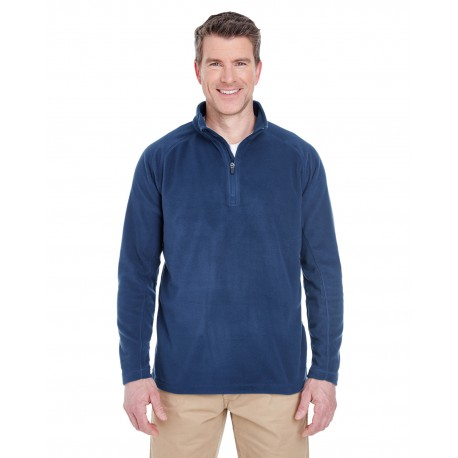 8180 UltraClub 8180 Adult Cool & Dry Quarter-Zip Microfleece NAVY