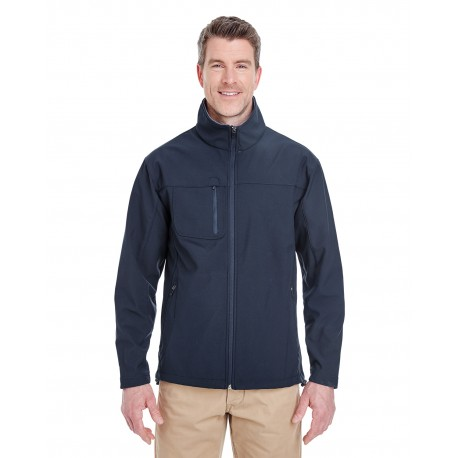 8280 UltraClub 8280 Adult Ripstop Soft Shell Jacket with Cadet Collar NAVY