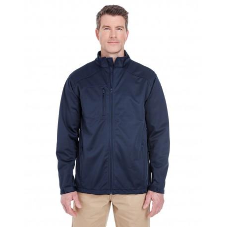 8477 UltraClub 8477 Men's Solid Soft Shell Jacket NAVY
