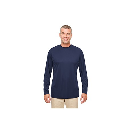 8622 UltraClub 8622 Men's Cool & Dry Performance Long-Sleeve Top NAVY