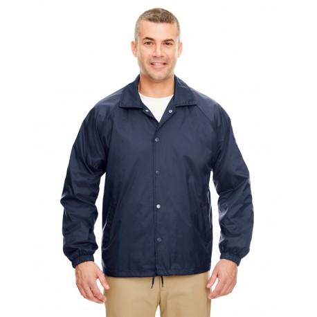 8944 UltraClub 8944 Adult Nylon Coaches' Jacket NAVY