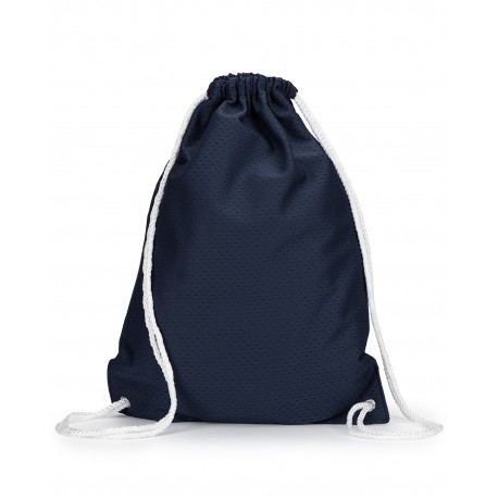 8895 Liberty Bags 8895 Jersey Mesh Drawstring Backpack NAVY