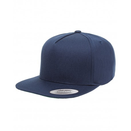Y6007 Yupoong Y6007 Adult 5-Panel Cotton Twill Snapback Cap NAVY