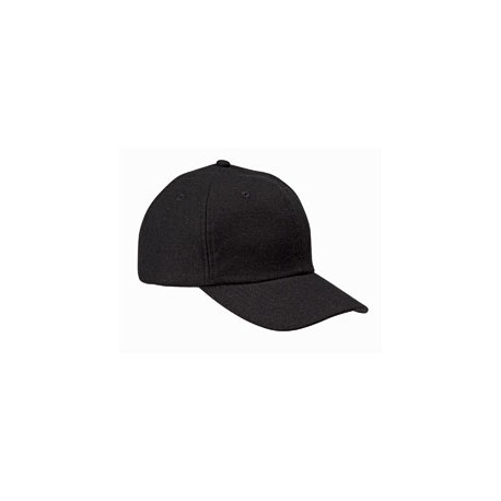 BA528 Big Accessories BA528 Wool Baseball Cap BLACK