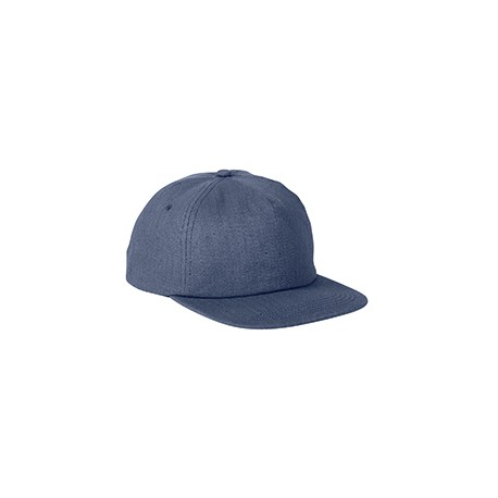 BA615 Big Accessories BA615 Squatty Herringbone Cap NAVY