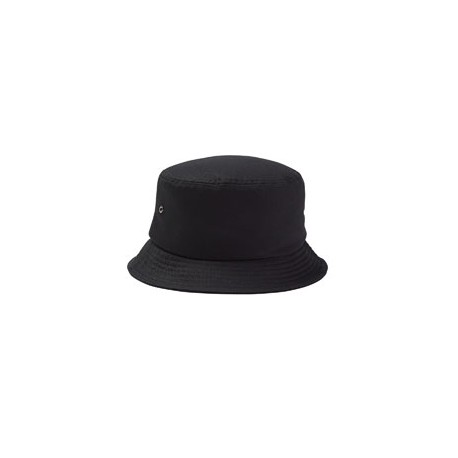 BA534 Big Accessories BA534 Metal Eyelet Bucket Cap BLACK