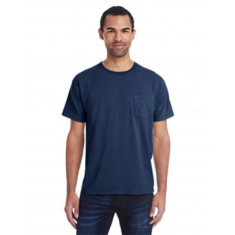 GDH150 ComfortWash by Hanes GDH150 Unisex 5.5 oz., 100% Ringspun Cotton Garment-Dyed T-Shirt with Pocket NAVY
