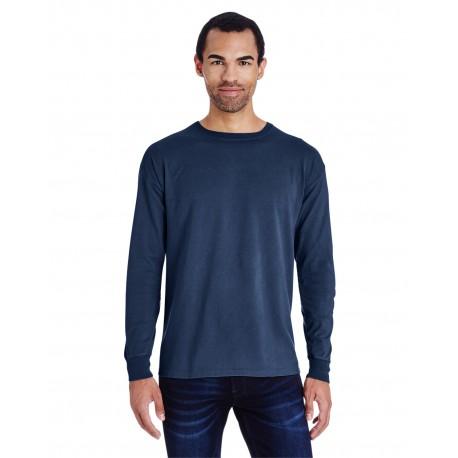 GDH200 ComfortWash by Hanes GDH200 Unisex 5.5 oz., 100% Ringspun Cotton Garment-Dyed Long-Sleeve T-Shirt NAVY