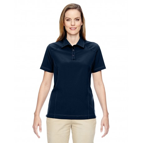 75120 North End 75120 Ladies' Excursion Crosscheck Woven Polo NAVY 007