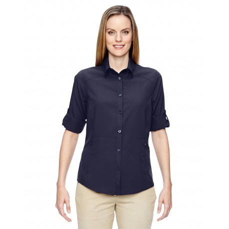 77047 North End 77047 Ladies' Excursion Concourse Performance Shirt NAVY 007