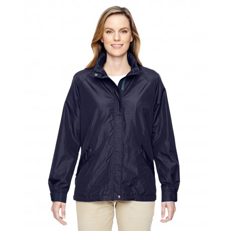 78216 North End 78216 Ladies' Excursion Transcon Lightweight Jacket with Pattern NAVY 007