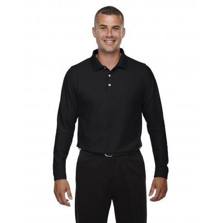 DG170 Devon & Jones DG170 Men's DRYTEC20 Performance Long-Sleeve Polo BLACK
