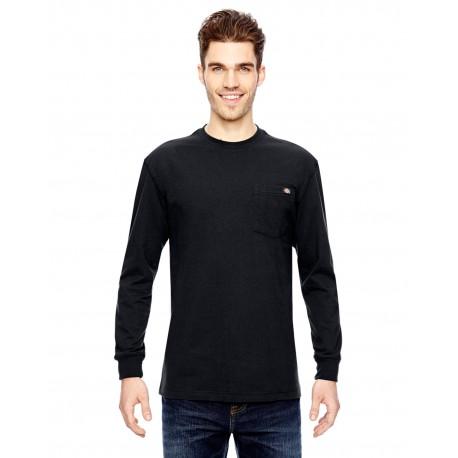 WL450 Dickies WL450 Men's 6.75 oz. Heavyweight Work Long-Sleeve T-Shirt BLACK