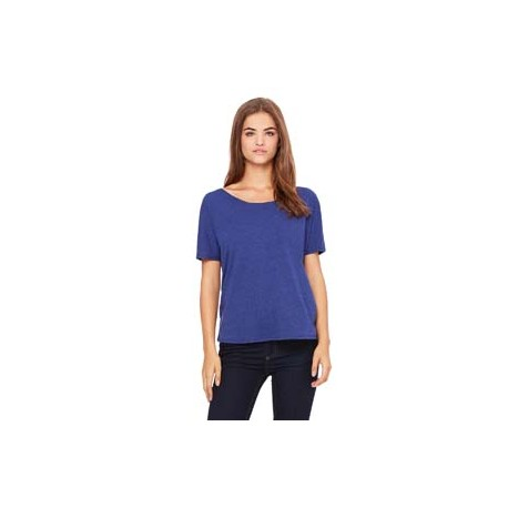 8816 Bella + Canvas 8816 Ladies' Slouchy T-Shirt NAVY TRIBLEND