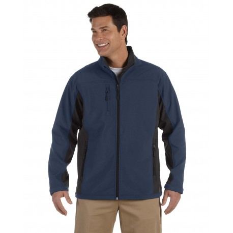 D997 Devon & Jones D997 Men's Soft Shell Colorblock Jacket NAVY/DK CHRCOAL
