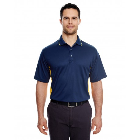 8406 UltraClub 8406 Men's Cool & Dry Sport Two-Tone Polo NAVY/GOLD