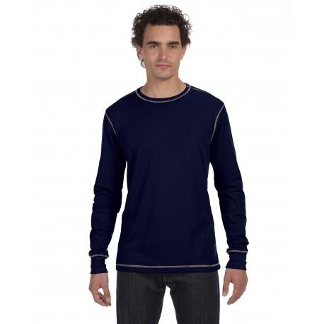 3500 Bella + Canvas 3500 Men's Thermal Long-Sleeve T-Shirt NAVY/GREY