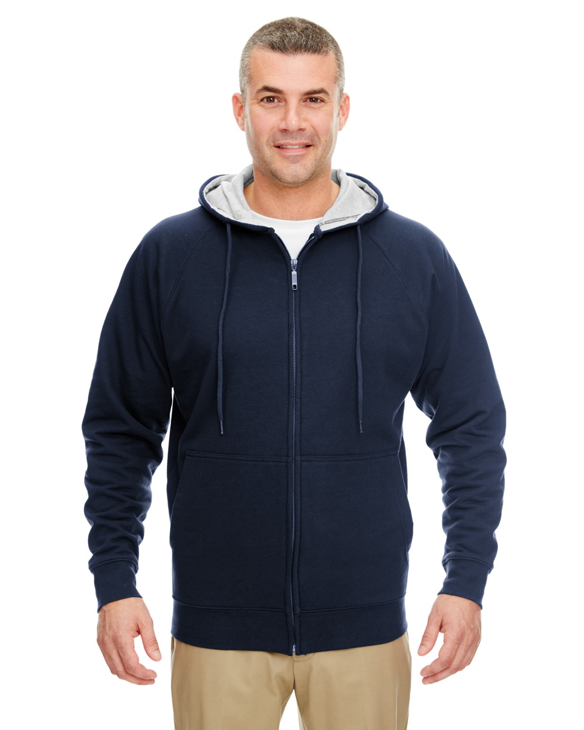 8463 UltraClub NAVY/HTHR GRY