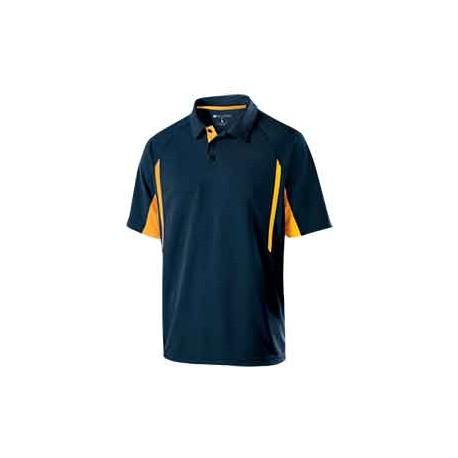 222530 Holloway 222530 Men's Avenger Short-Sleeve Polo NAVY/LIGHT GOLD