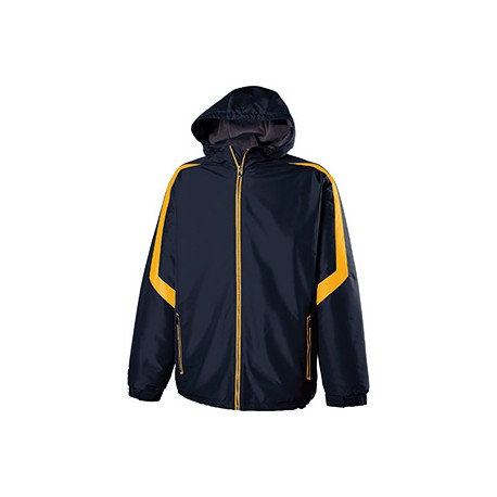 229059 Holloway 229059 Adult Polyester Full Zip Charger Jacket NAVY/LIGHT GOLD