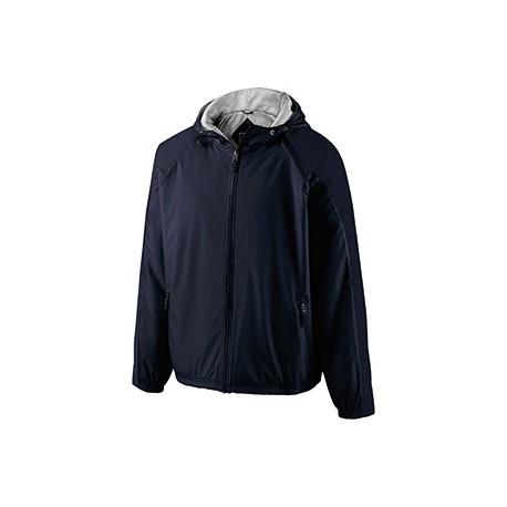 229111 Holloway 229111 Adult Polyester Full Zip Hooded Homefield Jacket NAVY/NAVY
