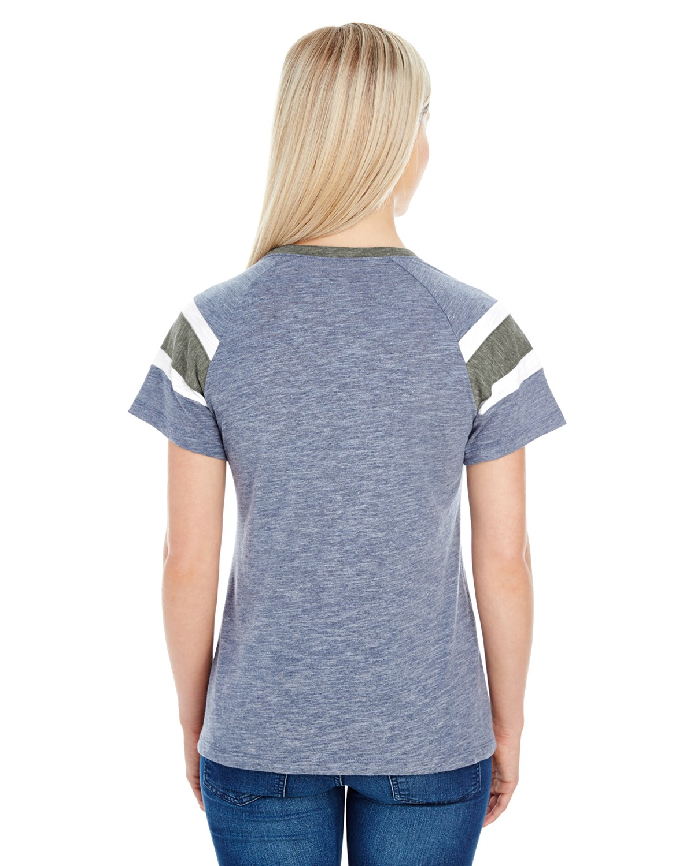 3011 Augusta Sportswear NAVY/SLTE/WHT