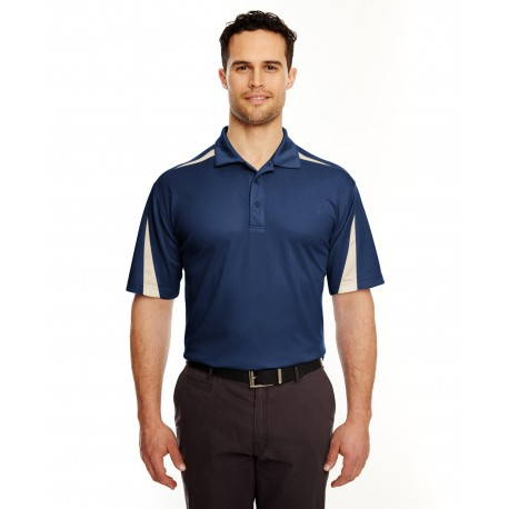 8408 UltraClub 8408 Adult Cool & Dry Sport Polo NAVY/STONE