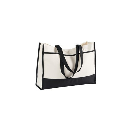 2230 Gemline 2230 Contemporary Tote BLACK