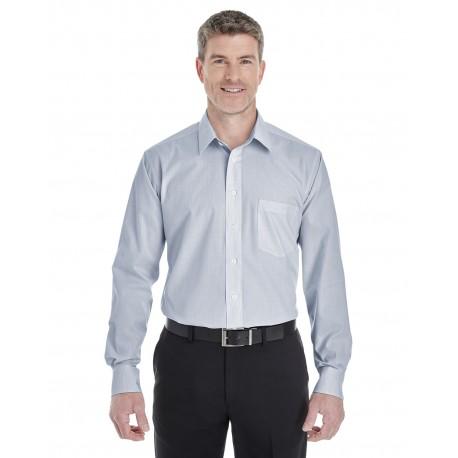 DG534 Devon & Jones DG534 Men's Crown Woven Collection Striped Shirt NAVY/WHITE
