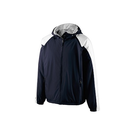 229111 Holloway 229111 Adult Polyester Full Zip Hooded Homefield Jacket NAVY/WHITE