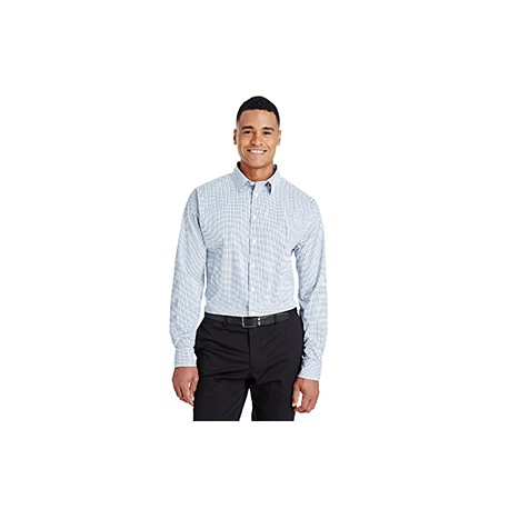 DG540 Devon & Jones DG540 Men's CrownLux Performance Micro Windowpane Shirt NAVY/WHITE