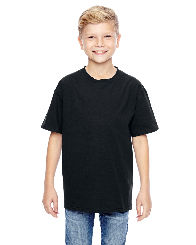 498Y Hanes BLACK