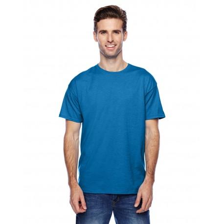 P4200 Hanes P4200 Unisex 4.5 oz. X-Temp Performance T-Shirt NEON BLUE HTHR