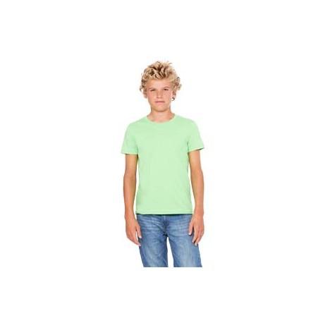 3001Y Bella + Canvas 3001Y Youth Jersey Short-Sleeve T-Shirt NEON GREEN
