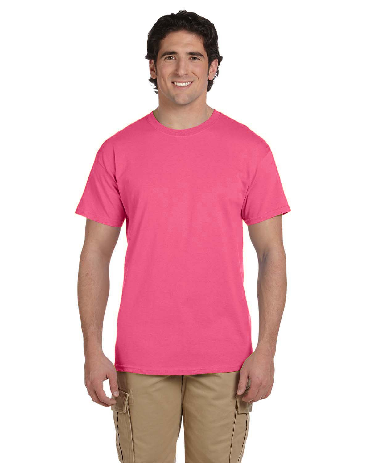 3931 Fruit of the Loom NEON PINK