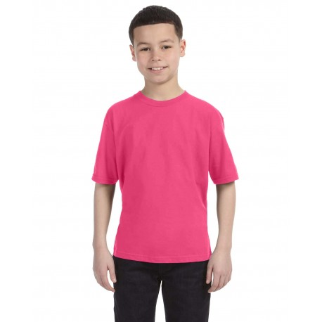 990B Anvil 990B Youth Lightweight T-Shirt NEON PINK