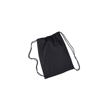 8875 Liberty Bags 8875 Cotton Drawstring Backpack BLACK