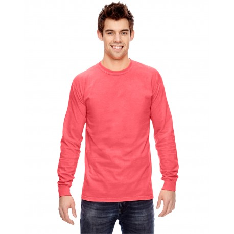 C6014 Comfort Colors C6014 Adult Heavyweight RS Long-Sleeve T-Shirt NEON RED ORANGE