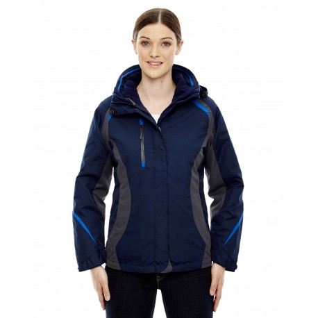 78195 North End 78195 Ladies' Height 3-in-1 Jacket with Insulated Liner NIGHT 846