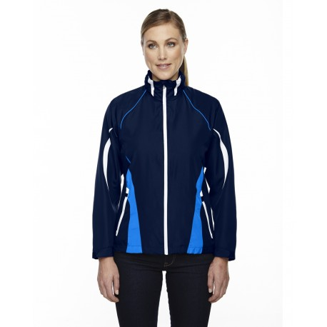 78644 North End 78644 Ladies' Impact Active Lite Colorblock Jacket NIGHT 846