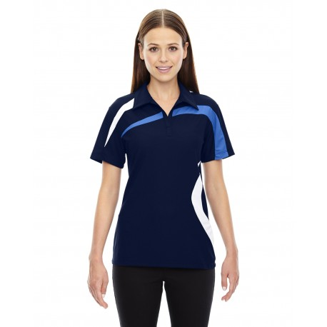 78645 North End 78645 Ladies' Impact Performance Polyester Pique Colorblock Polo NIGHT 846