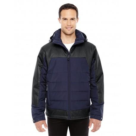88232 North End 88232 Men's Excursion Meridian Insulated Jacket with Melange Print NV/DK GR HT 007