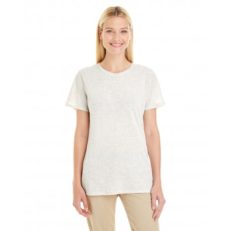 601WR Jerzees 601WR Ladies' 4.5 oz. TRI-BLEND T-Shirt OATMEAL FLECK