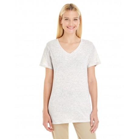 601WVR Jerzees 601WVR Ladies' 4.5 oz. TRI-BLEND V-Neck T-Shirt OATMEAL FLECK