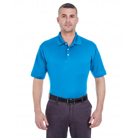 U8315 UltraClub U8315 Men's Platinum Performance Pique Polo with TempControl Technology OCEAN BLUE