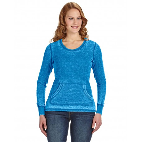 JA8255 J America JA8255 Ladies' Zen Thermal Long-Sleeve T-Shirt OCEANBERRY