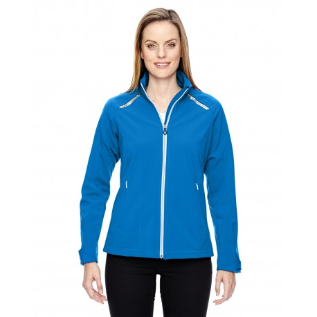 78693 North End 78693 Ladies' Excursion Soft Shell Jacket with Laser Stitch Accents OLYMPIC BLUE 447